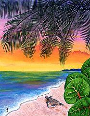 Exotic Flowers Art - Homeward Bound by Carolyn Steele