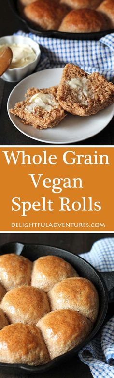 Fluffy vegan spelt rolls that are hearty, slightly sweet, and delicious. A perfect replacement regular rolls, these spelt buns will become a new favourite! #spelt #veganrolls #speltrolls #dinnerrolls #speltbuns via @delighfuladv