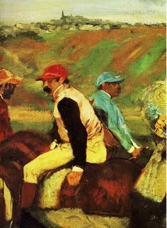 Degas… indignant I did not know he did horse racing paintings.