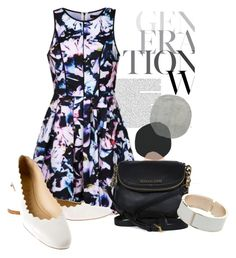 """""""Ally Fashion Orchid floral skater dress"""" by ljbminime ❤ liked on Polyvore featuring Ally Fashion, Chloé, Michael Kors, Dorothy Perkins, summerdress, skaterdress, daydresses and polvoretrends"""