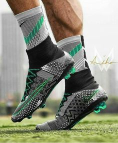 When you participate in soccer training, you will find that you are introduced to many different types of methods of play. One of the most important aspects of your soccer training regime is learning the basics of kicking the soccer b Custom Football Boots, Cool Football Boots, Football Socks, Soccer Boots, Adidas Football, Nike Soccer, Football Cleats, Girls Soccer Cleats, Nike Cleats