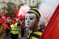 Street protests are planned across France, rail workers and taxi drivers are…