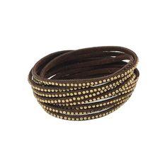 Brown Diamond Multilayers Bracelet (€5,11) ❤ liked on Polyvore