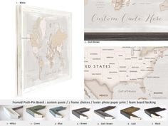 Elite framed push pin board personalized with your name world map elite framed push pin board personalized with your name world map with cities in vintage style pin boards gumiabroncs Images