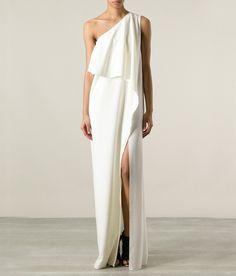 Robe de mariée asymétrique et fendue, Amen, 250€.