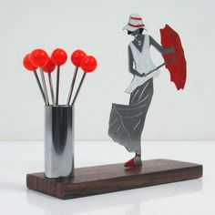 ART-DECO-French-Figural-LADY-with-UMBRELLA-COCKTAIL-STICKS-PICKS-1930s