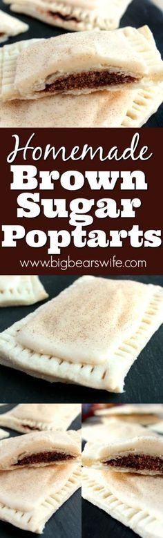 These sweet Brown Sugar Poptarts are the homemade version of the brown sugar poptarts that you can buy in the store! They're easy to make and ready in under and hour! #brunchweek #ad