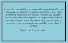 That describes it perfectly! And they say dancing isn't a sport...
