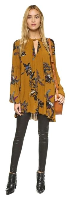 Free People Yellow Combo Retro Swing Tunic Dress. Free shipping and guaranteed authenticity on Free People Yellow Combo Retro Swing…