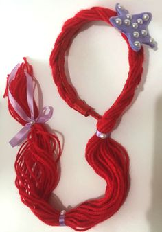 Mermaid Theme Birthday, Little Mermaid Birthday, Little Mermaid Parties, Ariel The Little Mermaid, Diy Headband, Headbands, Diy For Kids, Crafts For Kids, Ariel Hair