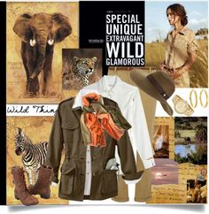 """Getting Rugged: Set 1 - African Safari"" by judysingley-polyvore ❤ liked on Polyvore"