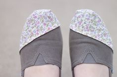How to recover or patch TOMS shoes! I need to do this, my favorite gray ones are wearing thin