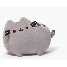 Pusheen the Cat Plush (96 SEK) ❤ liked on Polyvore featuring grey