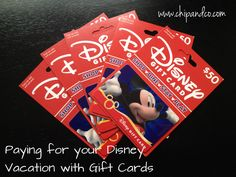 Paying for your Disney Reservation Using Disney Gift Cards