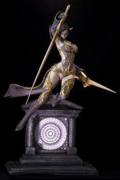 Dark Fantasy Art, Fantasy Girl, Diorama, Fantasy Female Warrior, Warrior Angel, Mini Paintings, Face Paintings, Anime Figures, Action Figures