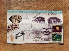 This whole mail-art movement intrigues me. I'm wondering whether it speak about a duality  - the plethora of things trashed alongside our loss of handwritten text in personal messages. -- Mail art moon 2014