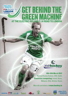 The Green Machine Men's Hockey, Olympics, Irish, Baseball Cards, Green, Sports, Hs Sports, Irish Language, Sport