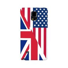 American and Union Jack Flag Galaxy Note 4 Case ($37) ❤ liked on Polyvore featuring accessories, tech accessories and patriotic