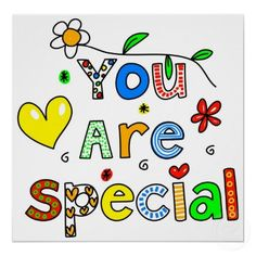 Royalty-Free (RF) Clipart Illustration of Colorful You Are Special Words by Prawny You Are Special, Special Words, Special Quotes, Think Positive Words, Positive Quotes, Positive Affirmations, Positive Vibes, The Words, Love Quotes