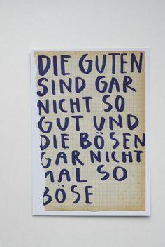 """Postkarte """"Die Guten..."""" // postcard by Hungrrrrrrrr via DaWanda.com"""