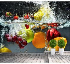Departamento de envíos gratis de restaurante minimalista postre fruta fresca de cocina del restaurante mural papel tapiz de fondo de tamaño personalizado en Papel Pintado de Casa y Jardín en AliExpress.com   Alibaba Group