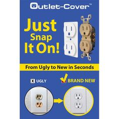 Are you painting, remodeling, or updating your house, a room, kitchen or bath? Do you need to change the color of your outlet but don't want to hire an electrician to change the receptacles? Now you don't have to! Outlet-Cover is a simple solution to unsightly, off-color, or outdated receptacles. Just snap it on! #acehardware #diyhome #beforeandafter #homereno #kitchenreno #bathroomreno #homesweethome #fixerupper #homeowner #electrical #houseflipping #houseflipper Basement Makeover, Office Makeover, Winter Home Decor, Winter House, Interior Paint Colors, Interior Design, Electrical Outlet Covers, Blogger Home, Laundry Room Inspiration