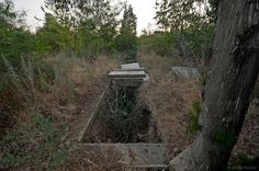 abandoned grave yard in central Bulgaria