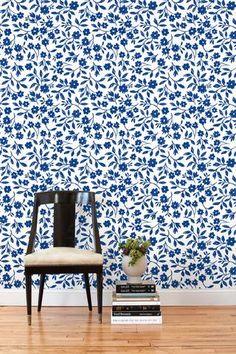 Sketchbook Floral (Blue) Tiles