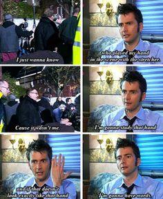 David Tennant fightin' hand's death scene in Doctor Who