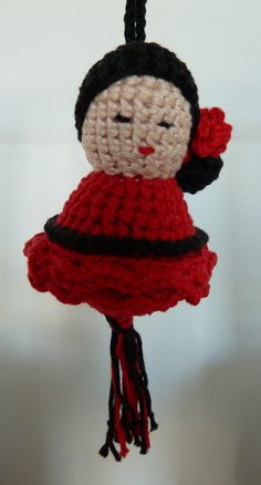 Gelukspoppetje flamenco