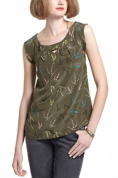 Notched Sleeveless Blouse #anthropologie