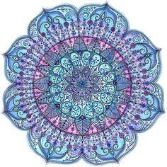 'Snowflake Mandala' stunning festive design by Sarah Travis.