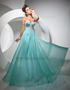 2013 A Line Blue Full Length Prom Dress Sale