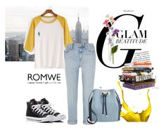 """""""romwe"""" by woman-1979 ❤ liked on Polyvore featuring Madewell, Converse and INC International Concepts"""