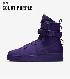 All Nike Shoes, Pretty Girl Swag, Nike Air Force Ones, Shoe Game, All Black Sneakers, Footwear, Pairs, Purple, Nike Snkrs