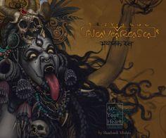 """Navarasa""( nine human emotions), Shashank Mishra Kali Goddess, Black Goddess, Durga Maa, Shiva Shakti, Tattoo Buddhist, Kali Tattoo, Kali Mata, Durga Images, Shiva Wallpaper"