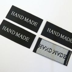 50 pc of 40mm X 18mm Hand made Woven Label in Black 4 Accessory