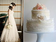 Cakes Inspired by Wedding Dresses