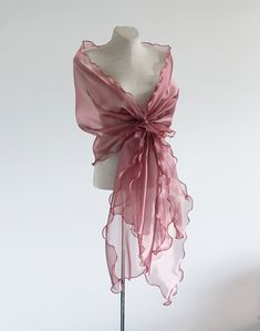 WOMENS LADIES LONG DUSTY PINK SILKY SHINY PEARL SCARF,SHAWL,SHOULDER WRAP,STOLE