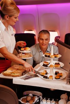 Enjoy your afternoon tea 30,000 feet in the air, with Virgin Atlantic's Upper Class afternoon tea service.