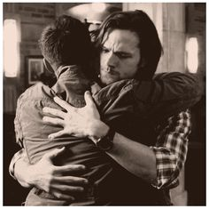 Sam and Dean #Supernatural #hugs #bnw