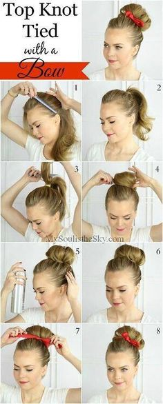 Top Knot Tied With A Bow #Fashion #Beauty #Trusper #Tip