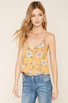 Contemporary Buttoned Floral Cami €16,00€10,99