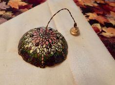 1:12 Vintage Artisan Kummerow Art Deco Jeweled Floral Hanging Lamp RARE OOAK