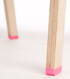 Flexible joint and foot #furniture #design #wood