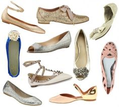 Chic flats for your wedding day