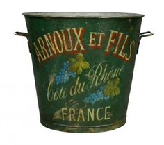 French Tole Wine Pickers Bucket