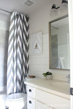 Crazy Wonderful: shiplap boy's bathroom reveal