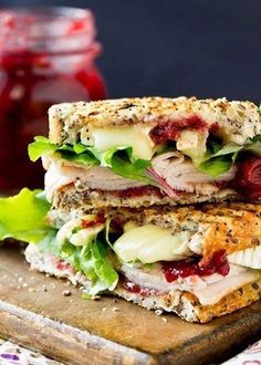 Not at all certain what kind of sandwich it is but, it look real good.