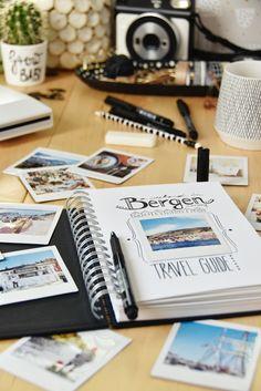 Bergen in Norwegen - DIY Travel Guide & Instax Printer SQ Giveaway Travel Journal Scrapbook, Bullet Journal Travel, Bullet Journal Themes, Photo Album Scrapbooking, Scrapbook Albums, Friend Scrapbook, Diy Photo, Instax Printer, Goodbye Gifts